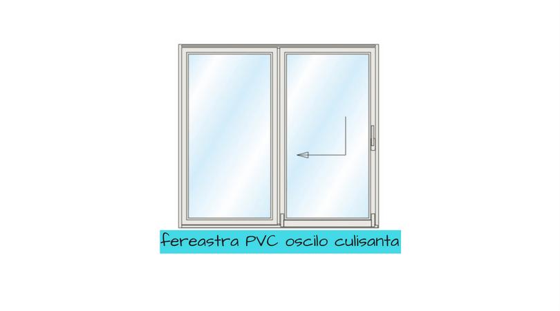 Ferestre PVC - oscilo culisanta